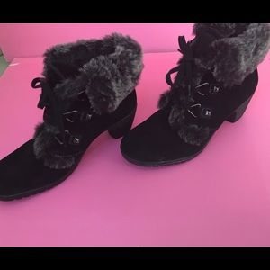 Bass Clove faux fur lined suede heeled bootie